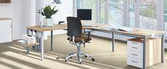 Nichts bleibt, wie es ist. Büro-Konzepte ändern sich. Mal so, mal so.  WORKS NN macht alles mit. Hochflexibel durch das Baukasten-System.  Gestell, Fuß, Unterbau, Farben - alles, wie Sie es möchten. Wenige,  einfache Handgriffe, und alles ist anders.