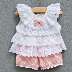 Bebê Infantil Fantasia De Menina Camiseta amassada, Blusa + Calça Pontos 2pcs Roupas ternos 0-2y