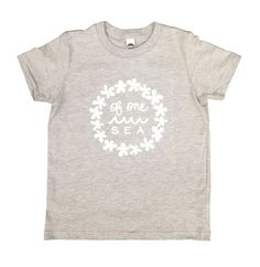 Kid's Grey T-Shirt with Lei Logo