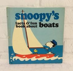 Snoopy-039-s-Facts-amp-Fun-Book-About-Boats-1979-Charles-M-Schulz