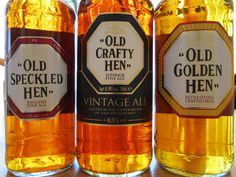 Old Crafty Hen is an aggressive twist on Old Speckled Hen, with a spicy note of raisin, vanilla and a hint of oak