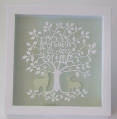 My baby just cares for me - Typography Paper Cut