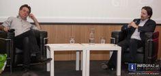 DER HYPO-KRIMI: Bilder aus dem Joanneumviertel Graz: Werner Kogler (Finanzsprecher Grüne) im Gespräch mit Ernst Sittinger (Ressortchef Wirtschaft Kleine Zeitung) am 19. März 2014.  #HYPO-KRIMI,#Bilder,#Joanneumviertel #Graz,#Werner #Kogler,#Finanzsprecher #Grüne,#Gespräch,#Ernst #Sittinger,#Ressortchef #Wirtschaft #Kleine #Zeitung,#Milliarden-#Desaster,#Hypo #Alpe #Adria,#Steuerzahler,#insolvenz,#fotos