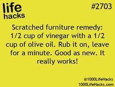 Scratched furniture remedy: