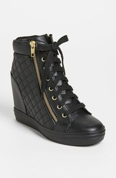 I have a new found respect for these Steve Madden 'Zipps' Wedge Sneaker