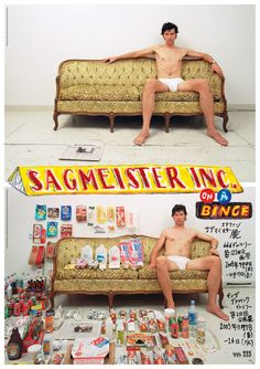 """Sagmeister Inc. on a Binge"" Poster by Stefan Sagmeister Stefan Sagmeister, Sagmeister And Walsh, Design Poster, Design Art, Laurent Durieux, Things Organized Neatly, Creative Review, Design Graphique, Cultura Pop"