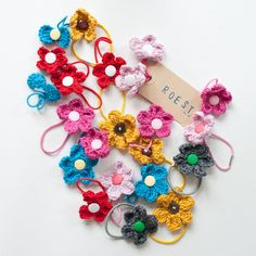 Little crochet flowers and crochet bows hair bands. Coming soon in my Etsy shop / Madebyroest    http://www.etsy.com/shop/ROEST
