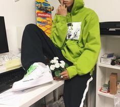 Supreme Akira Lime Hooded Sweatshirt x Nike Air Force 1 Low