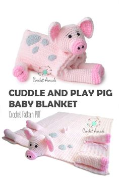 Cuddle and Play Pig Baby Blanket Crochet Pattern The Effective Pictures We Offer You About Crochet gifts A quality picture can tell you many things. Crochet Pig, Crochet Motifs, Manta Crochet, Crochet Patterns Amigurumi, Crochet Blanket Patterns, Crochet Gifts, Baby Blanket Crochet, Crochet Animals, Baby Patterns