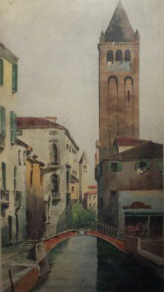 venise aquarelle 50x40 1910