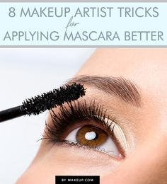 Mascara application is an art, and a necessary skill. Although we may be great at it, there's always room for improvement. The proof is in these eight pro tricks that will have you applying mascara better than you ever imagined possible. Drugstore Mascara, Best Mascara, How To Apply Mascara, Applying Mascara, Applying Makeup, Skin Makeup, Beauty Makeup, Hair Beauty, Makeup Contouring