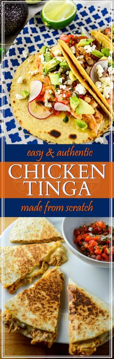 Chicken tinga, made from scratch and perfect for tacos, quesadillas, tortas, and more