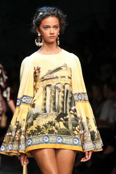 Dolce & Gabbana Spring 2014 Ready-to-Wear.   Collection Slideshow on Style.com.  Pretty cover-up.