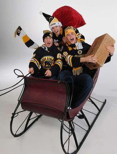 Is that Santa Claus? No, its Tyler Seguin, Brad Marchand and Adam McQuaid: pic.twitter.com/ud5BhoX3cz