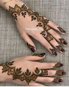 Mehndi Designs: Simple And Easy Henna Henna Hand Designs, Dulhan Mehndi Designs, Pretty Henna Designs, Mehndi Designs Finger, Modern Henna Designs, Indian Henna Designs, Floral Henna Designs, Mehndi Designs 2018, Mehndi Designs For Girls