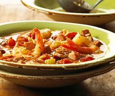 Jambalaya: I (Kristi) made this recipe for the kids tonight and they all liked it! That is uncommon...will make again.  I served it with corn bread. Skip rice and cornbread for Paleo