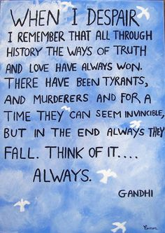 Ghandi's Words of Wisdom on imgfave