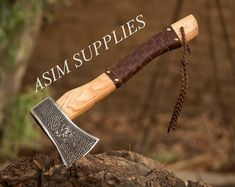 Viking hammer with Vegvisir Symbol carpentry woodwork | Etsy Blacksmith Hammer, Hammer Tool, Survival Axe, Special Symbols, Vegvisir, Acacia Wood, Sell On Etsy, Bushcraft, Blacksmithing