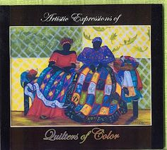 """The Ebony Stitchers Quilt Guild published """"Artistic Expressions of Quilters of Color""""! This 48-page softcover book features quilts and profiles of 33 quilters!  2010."""