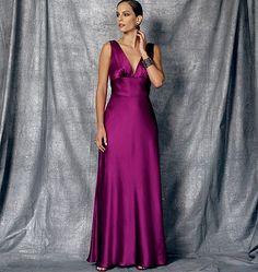 Stunning gown sewing pattern from Tom & Linda Platt for Vogue Patterns. V1474, Misses' Dress