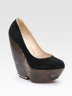 Nicholas Kirkwood Python Wedge!!!!! AMAZING!!! Available At Sak's Fifth Ave. At Whopping 1,270$