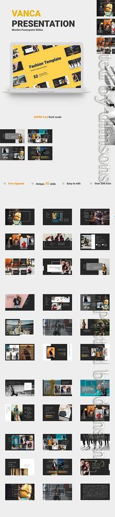 Vanca Presentation PPTX Creative Design, Web Design, Presentation, Templates, Free, Models, Stencils, Design Web, Vorlage