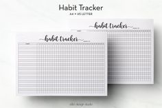 Habit Tracker Printable / A4 + US Letter Inserts / Daily Habits Printable / Monthly Plan / A4 + US Letter Binder / Health Tracker A4 Planner