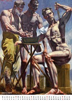 Male Body Art, Art And Illustration, Illustrations, Queer Art, Art Of Man, Anatomy Art, Gay Art, Gravure, Figure Painting