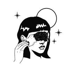 Starry Lady Modern Steel Wall Art, x - 18 x 24 (Steel - 18 x 24 - Abstract), Black Kunst Inspo, Art Inspo, Art And Illustration, Black And White Illustration, Art Illustrations, Art Sketches, Art Drawings, Broken Drawings, Modern Metal Wall Art