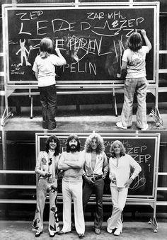 Top Photo: Jason Bonham and a friend. Bottom Photo: Zep