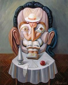 35 Mind-Blowing Illusion Paintings by Oleg Shuplyak - Find Hidden Figures Optical Illusion Paintings, Optical Illusions Pictures, Illusion Pictures, Illusion Drawings, Art Optical, Illusion Art, Optical Illusion Images, Salvador Dali, Oleg Shuplyak