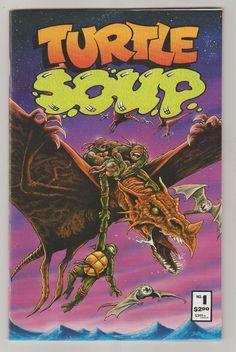 Turtle Soup Vol 1 1 Copper Age Comic Book.  by RubbersuitStudios #tmnt #stansakai #comicsforsale