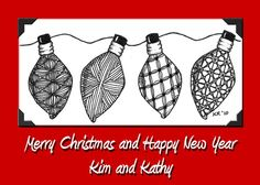 christmas zentangle | Christmas ornaments | Tangled Tranquility