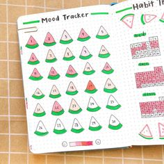 This month's watermelon themed mood tracker! 🍉 ➖➖➖➖➖➖➖➖➖➖➖ Follow me @bujocollector ❣️ ➖➖➖➖➖➖➖➖➖➖➖ Follow me @bujocollector 📚 ➖➖➖➖➖➖➖➖➖➖➖…