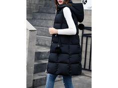 Dámská dlouhá vesta - 3 barvy (Barva zelená, Velikost L) Winter Jackets, Fashion, Winter Coats, Moda, Winter Vest Outfits, Fasion, Trendy Fashion, La Mode