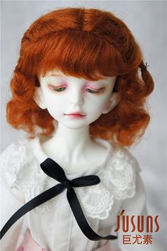 Amazon.com: JD249 7-8inch 1/4 MSD Twins Braids Short Wave Mohair Doll Wigs (Carrot) Short Curly Wigs, Short Braids, Doll Wigs, Dolls, Twin Braids, Hair Stores, Double Braid, Short Waves, Amazon Art