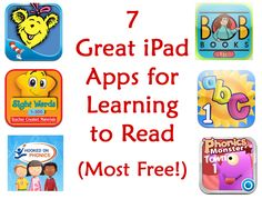 Today I want to share some of our favorite kids' apps for iPad and iPhone that are wonderful for budding readers! Build a Word Express iPod/iPhone/iPad Get Learning Apps, Learning Activities, Kids Learning, Teaching Kids, Kindergarten Reading, Teaching Reading, Free Reading, Workshop, Learn To Read