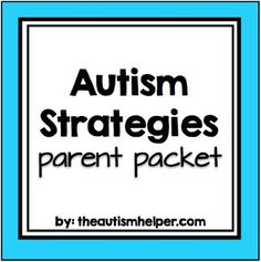 This resource is a set of 15 informational flyers geared towards parents of children with autism. The information is is based on common concerns and question and written in easy to understand language. Visuals, examples, and helpful tips are included on each page.