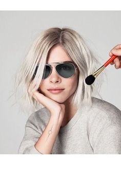 Emily Weiss and her beautiful tattoo // Into the Gloss X Warby Parker aviators are pretty rad too!:
