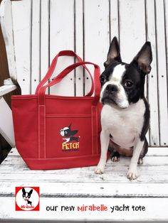 Mirabelle YACHT Red Canvas Tote at www.theadventuresofmirabelle. Yacht not included.