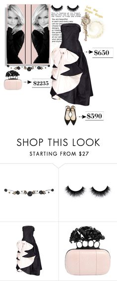 """""""blacK & pinK"""" by fatimahkk ❤ liked on Polyvore featuring Fetco, Alexander McQueen and Jimmy Choo"""