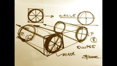 How to draw wheels on your car sketches.