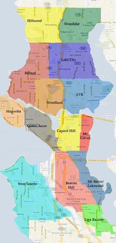 This map shows the 12 neighborhoods in the planned Gigabit Seattle