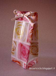 decoriciclo: Riciclare un brick in tetrapack: trasformiamolo in confezione regalo