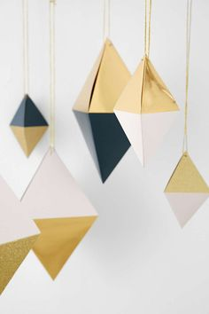 Urban Outfitters Hanging Diamond Ornaments (Set Of 6), $18 | 23 Magical Christmas Ornaments You'll Want Now