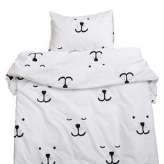Bedding Set . Bear Face - Toddler / Cot Bed - This Modern Life