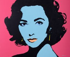 Liz Taylor, oil and acrylics on canvas, Martin Torsleff, www.pop-art.dk