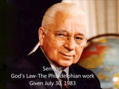 Sermon: God's Law-The Philadelphian Work by Herbert W Armstrong