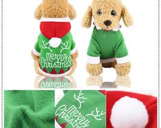 Hainute de toamna si iarna pentru animalul de companie, din amestec de bumbac si poliester, cu modele de Craciun pe verde si rosu Gingerbread Cookies, Green, Tricot, Gingerbread Cupcakes