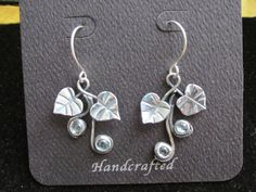 Sterling Silver Brutalist Morning Glory and Blue by CreativeEddy